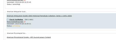 Bildschirmfoto Status in Prüfung