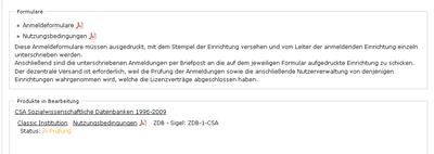 Bildschirmfoto Auswahl der zu unterschreibenden Dokumente